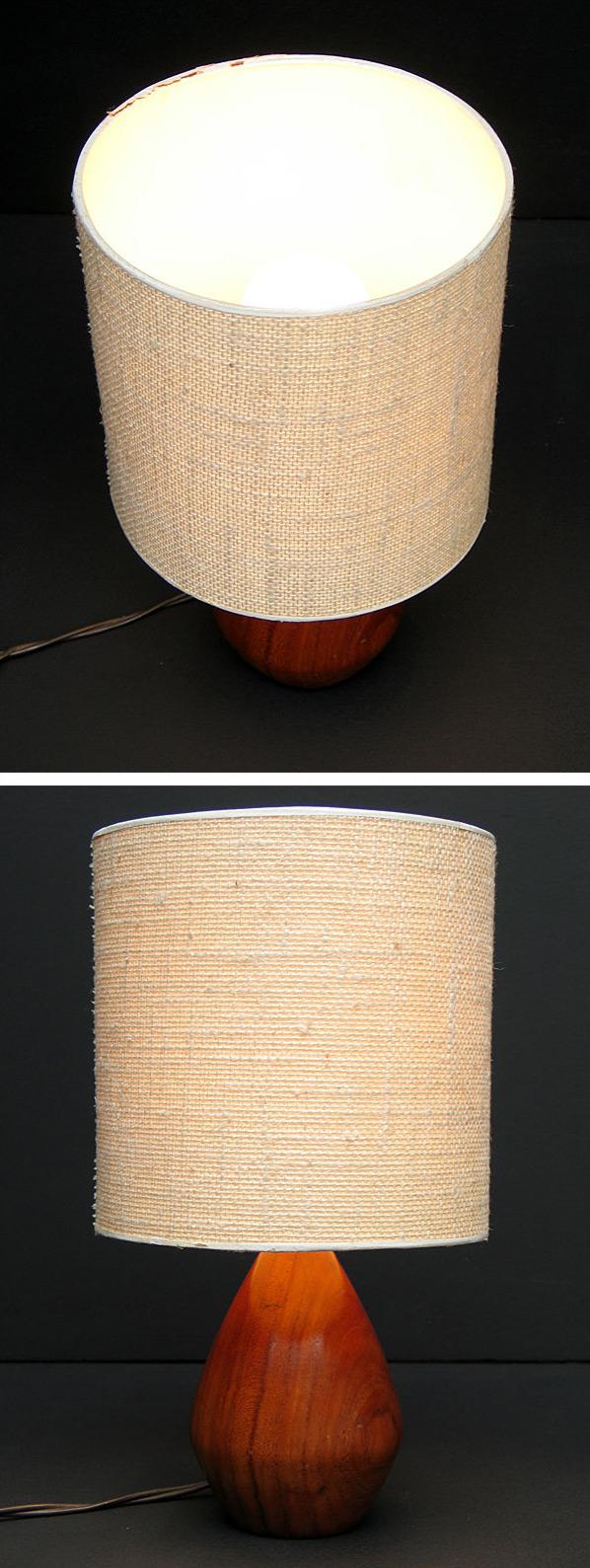 Danish Modern wooden Kagan table lamp eames era Large