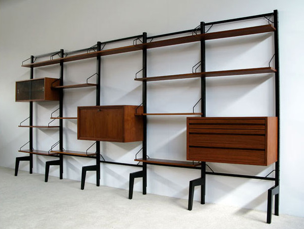 Danish modular wall unit Poul Cadovius Royal System
