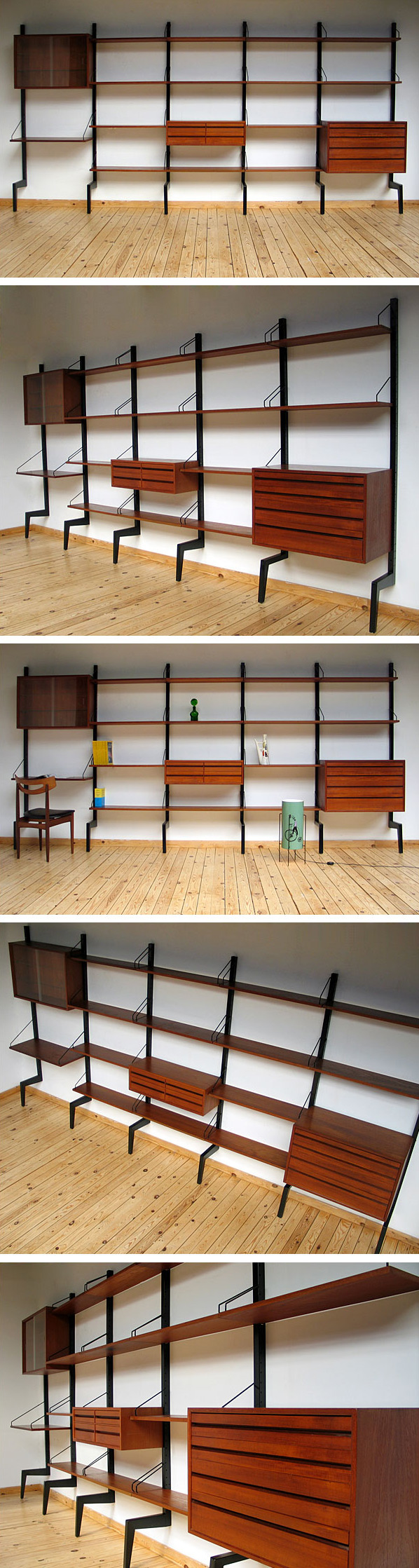 Danish modular wall unit ROYAL SYSTEM Design Poul Cadovius Large