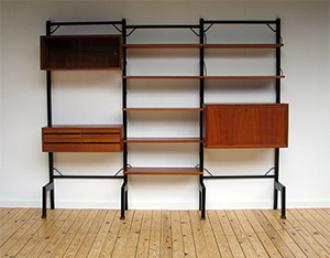 Danish modular wall unit ROYAL SYSTEM Poul Cadovius
