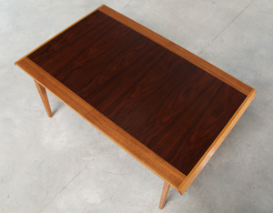 De Coene Madison dinning table rosewood and walnut 1958