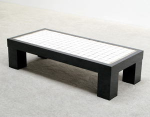 Decorative rectangular coffee table circa 70