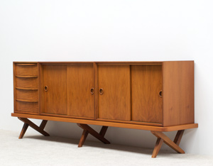 Decorative Walnut sideboard 1950