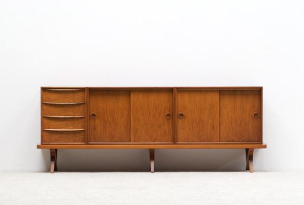 Decorative Walnut sideboard 1950