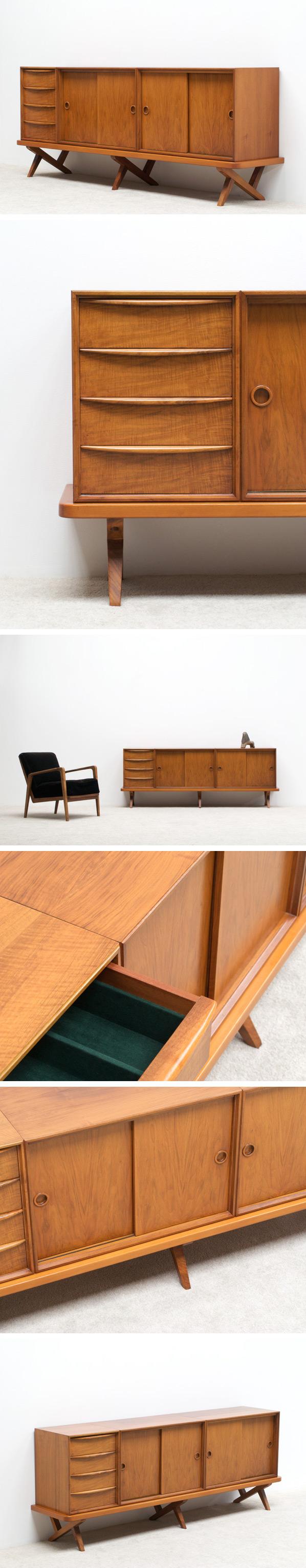 Decorative Walnut sideboard 1950 Large