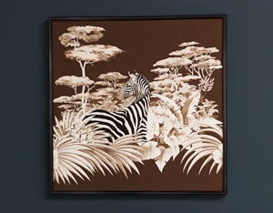 Decorative Zebra print on fabric African Wildlife