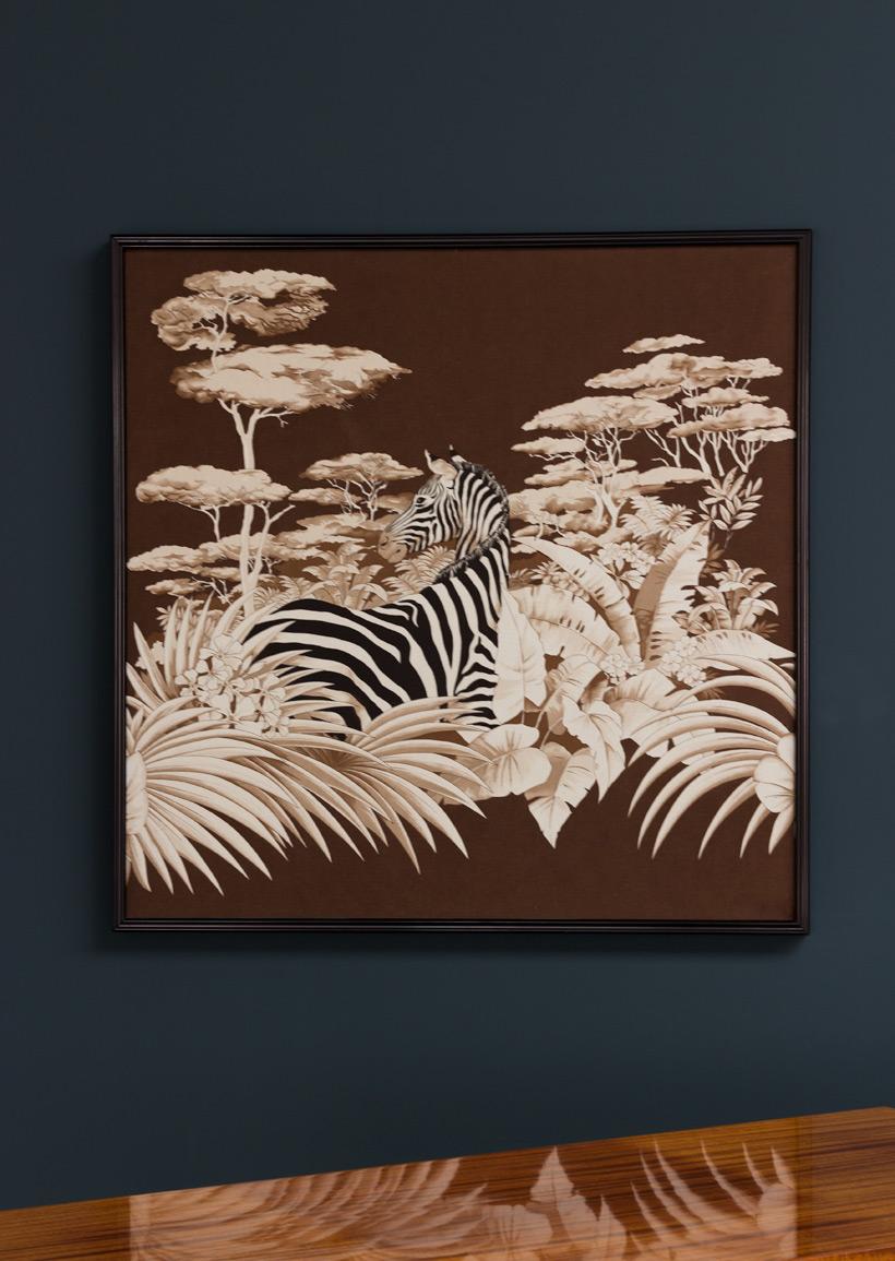 Decorative Zebra print on fabric African Wildlife Large