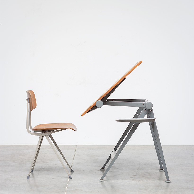 Desk table Model Reply designed by Wim Rietveld and Friso Kramer chair img 3
