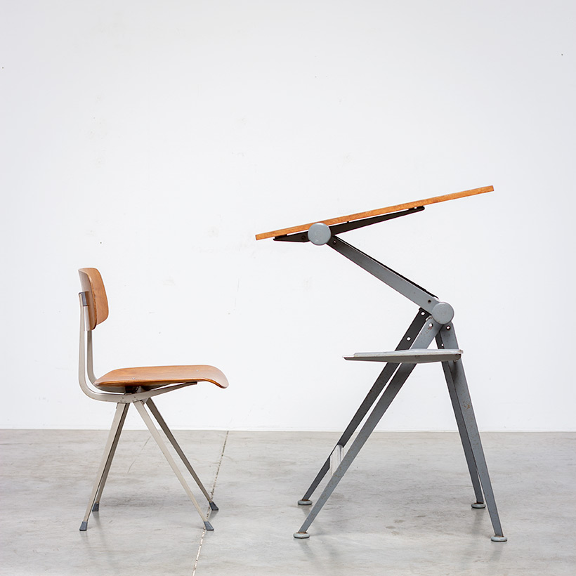 Desk table Model Reply designed by Wim Rietveld and Friso Kramer chair img 4
