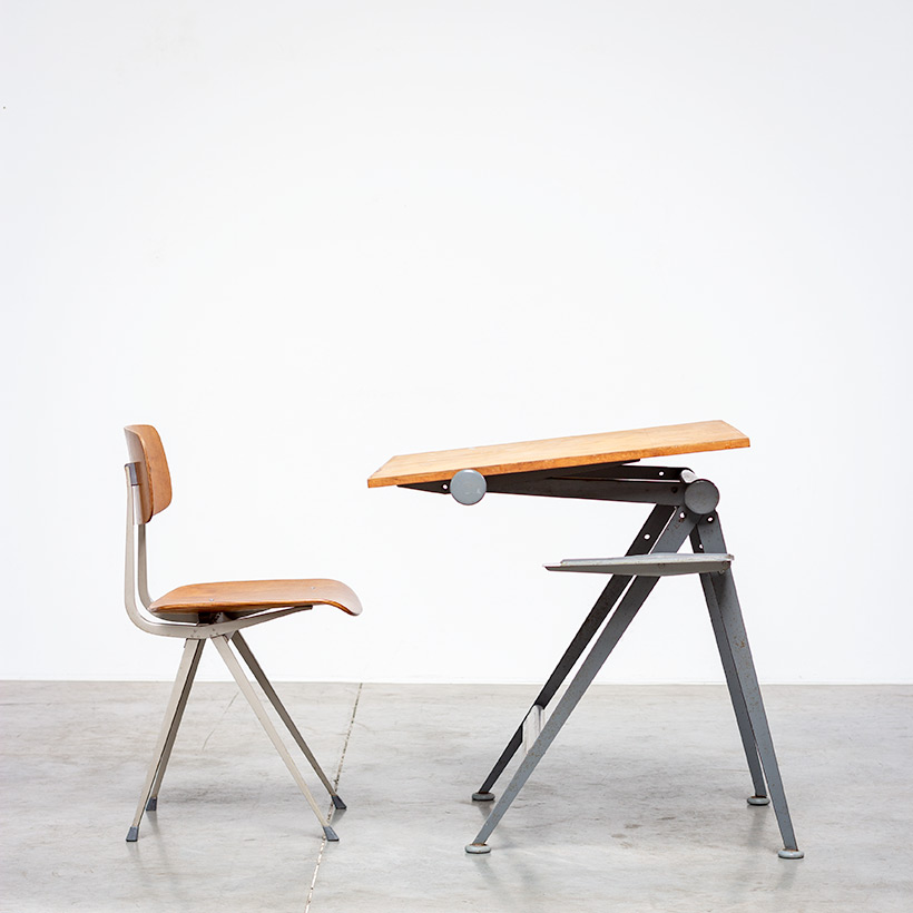 Desk table Model Reply designed by Wim Rietveld and Friso Kramer chair img 5