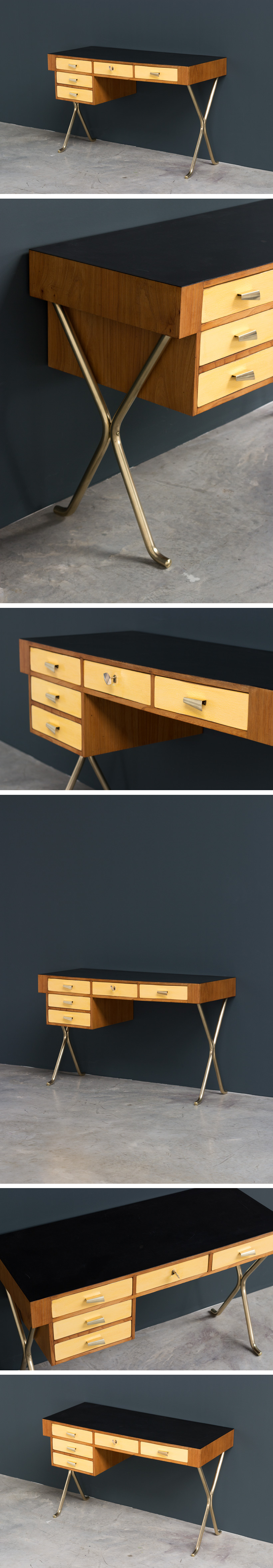 Desk writing table 1950 Large