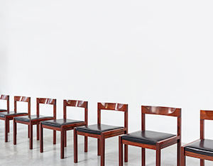 Dining chairs by Alfred Hendrickx for Belform set of eight circa 1970s