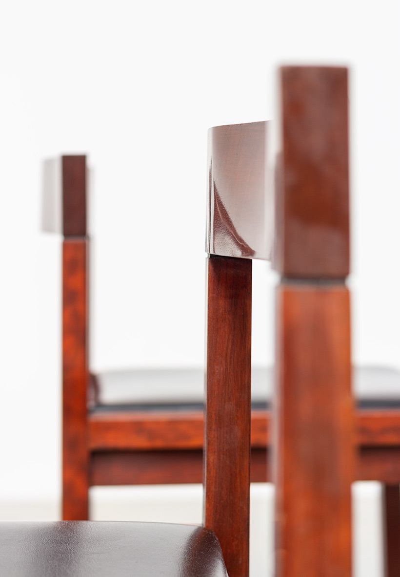 Dining chairs by Alfred Hendrickx for Belform set of eight circa 1970s img 10