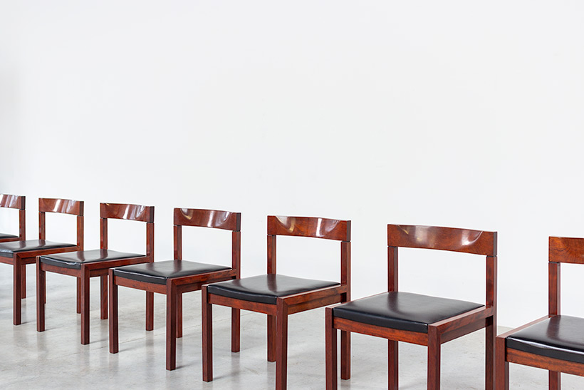 Dining chairs by Alfred Hendrickx for Belform set of eight circa 1970s img 3