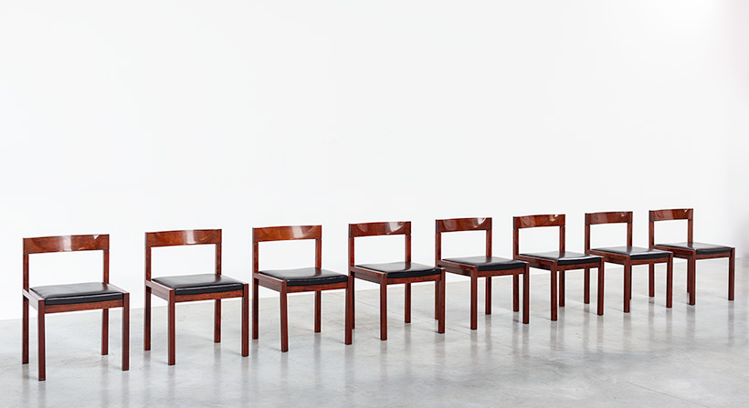 Dining chairs by Alfred Hendrickx for Belform set of eight circa 1970s img 4
