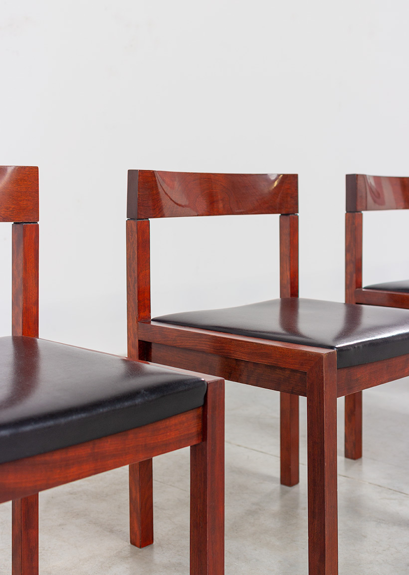 Dining chairs by Alfred Hendrickx for Belform set of eight circa 1970s img 5