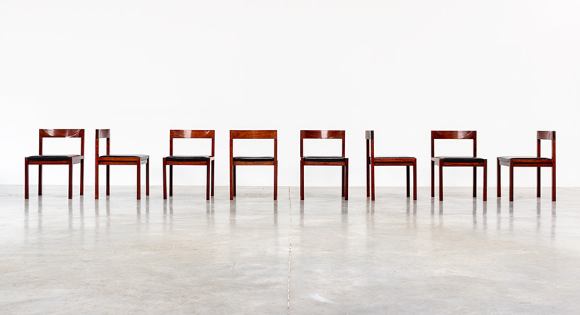 Dining chairs by Alfred Hendrickx for Belform set of eight circa 1970s img 6