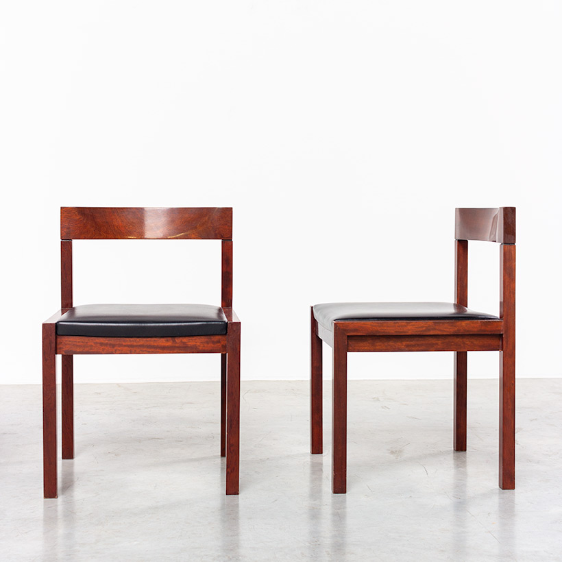 Dining chairs by Alfred Hendrickx for Belform set of eight circa 1970s img 7