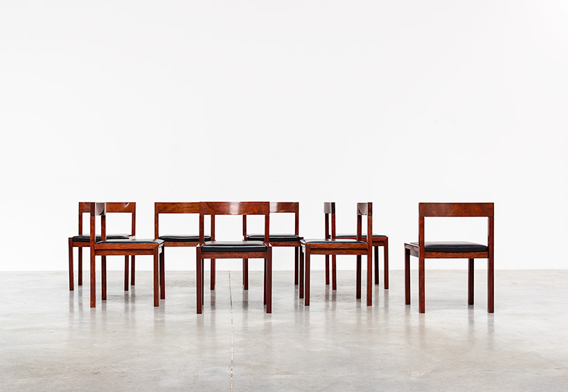 Dining chairs by Alfred Hendrickx for Belform set of eight circa 1970s img 8