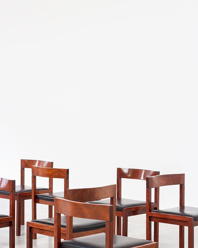 Dining chairs by Alfred Hendrickx for Belform set of eight circa 1970s img 9