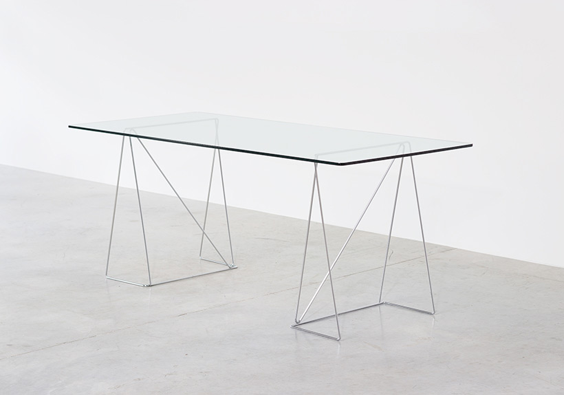 Dinning table with minimalistic modern clean lines circa 1970 Large