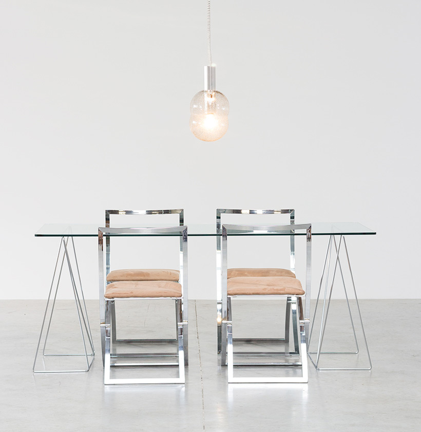 Dinning table with minimalistic modern clean lines circa 1970 img 6