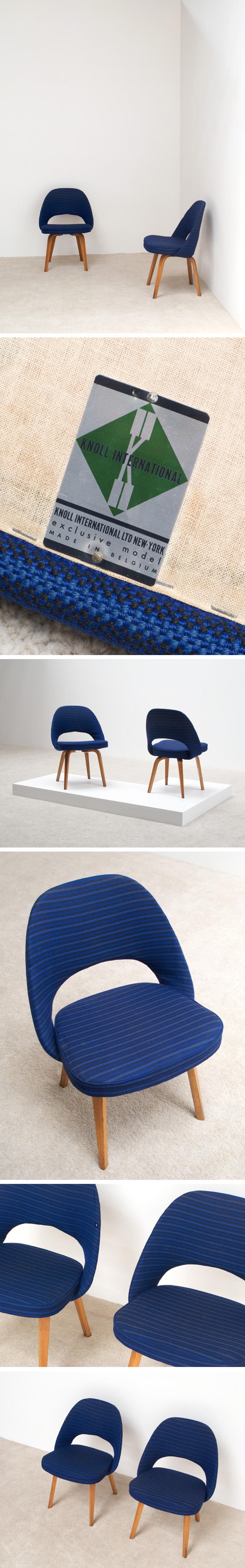 Eero Saarinen 2 side chairs Model 72 ULB for Knoll De Coene Large