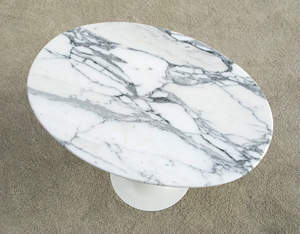 Eero Saarinen marble oval tulip side table Knoll