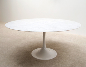 Eero Saarinen round marble dinning table Knoll