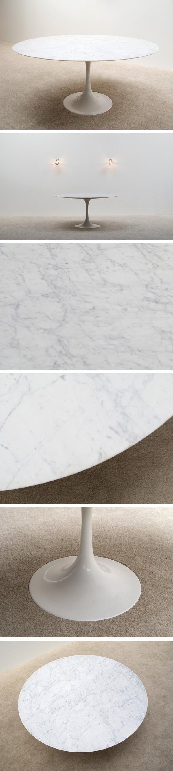Eero Saarinen round marble dinning table Knoll Large