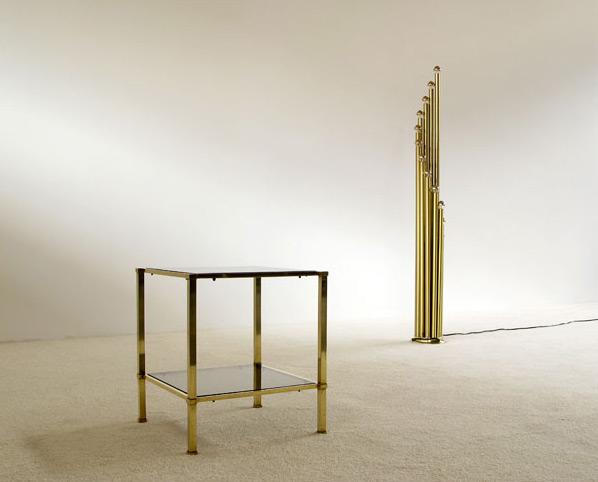 Elegant classic brass side table Maison Jansen