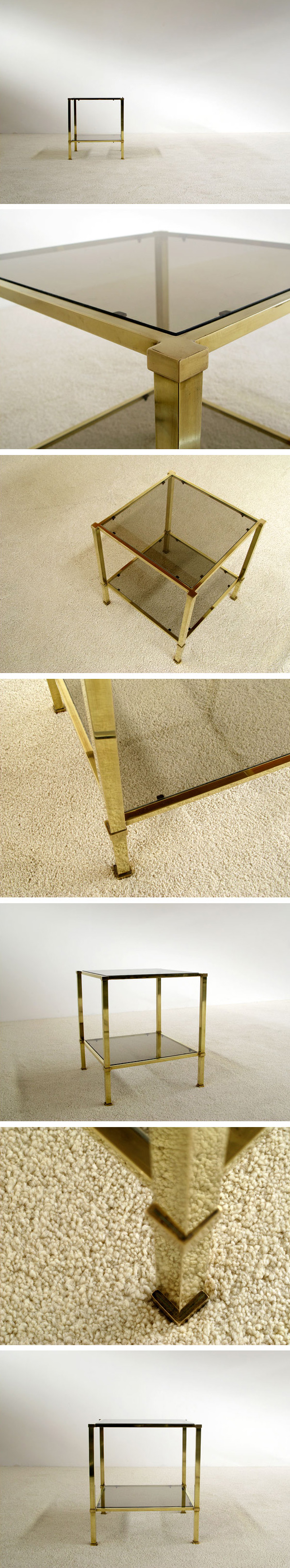 Elegant classic brass side table Maison Jansen Large