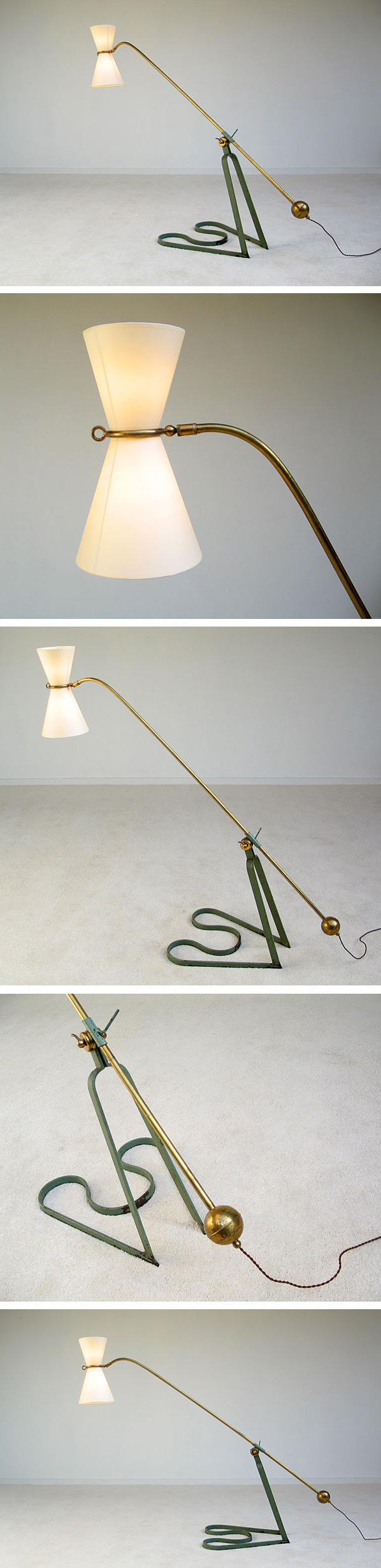 Equilibrium floor lamp Pierre Guariche 1951 Large