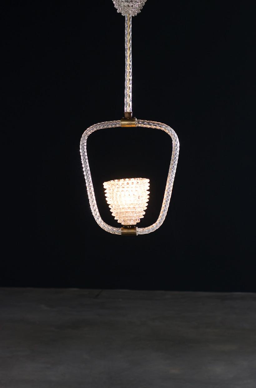 Ercole Barovier & Toso Rostrato chandelier 1940