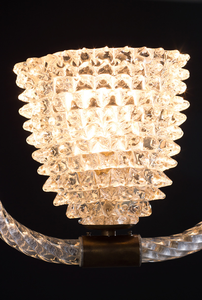Ercole Barovier & Toso Rostrato chandelier 1940 img 5