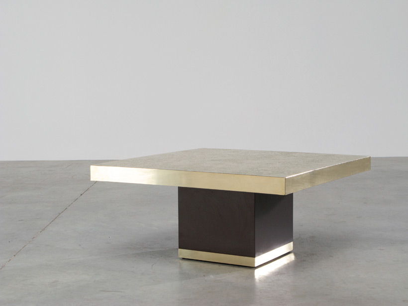 Etched brass side table by Georges Mathias img 3