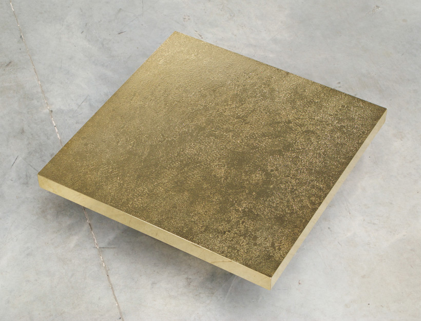 Etched brass side table by Georges Mathias img 4