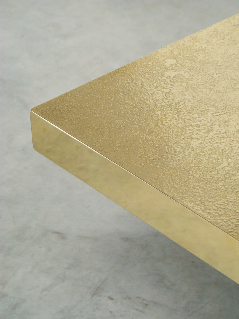 Etched brass side table by Georges Mathias img 6
