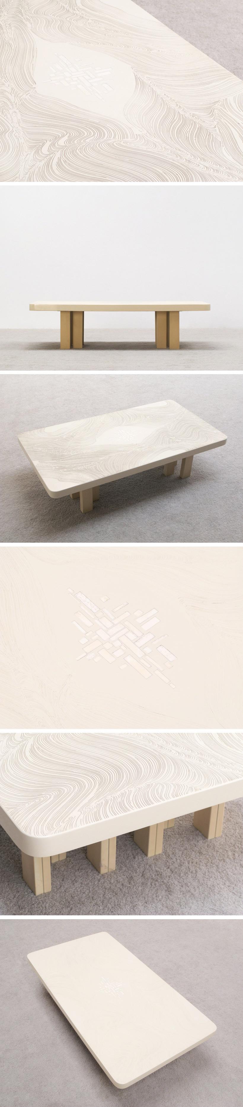 Fernand Dresse modernist Cocktail table circa 70 Large