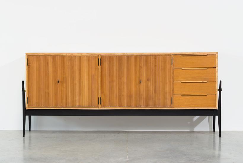 Fifties sideboard elegant storage cabinet Belgium made 1950 img 3