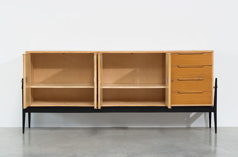 Fifties sideboard elegant storage cabinet Belgium made 1950 img 4