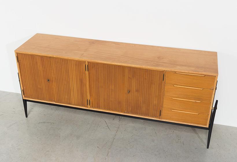 Fifties sideboard elegant storage cabinet Belgium made 1950 img 7