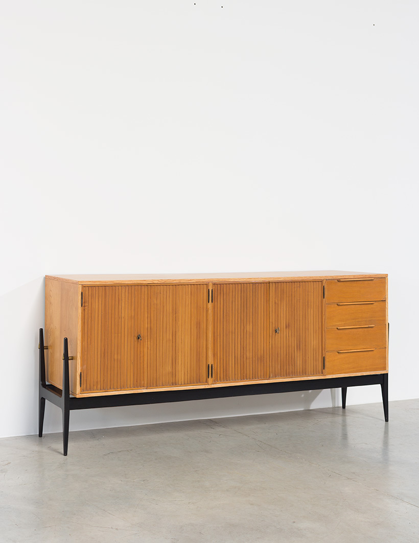 Fifties sideboard elegant storage cabinet Belgium made 1950 img 8