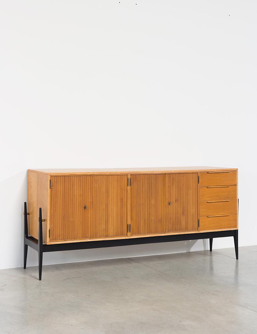 Fifties sideboard elegant storage cabinet Belgium made 1950 img 8