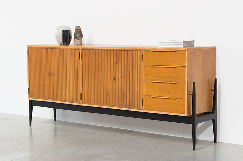 Fifties sideboard elegant storage cabinet Belgium made 1950 img 9