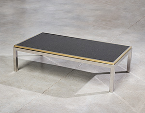 Flaminia coffee table with marble top designed by Willy Rizzo