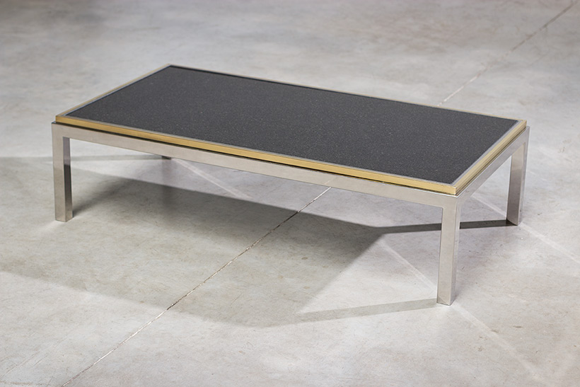 Flaminia coffee table with marble top designed by Willy Rizzo img 3