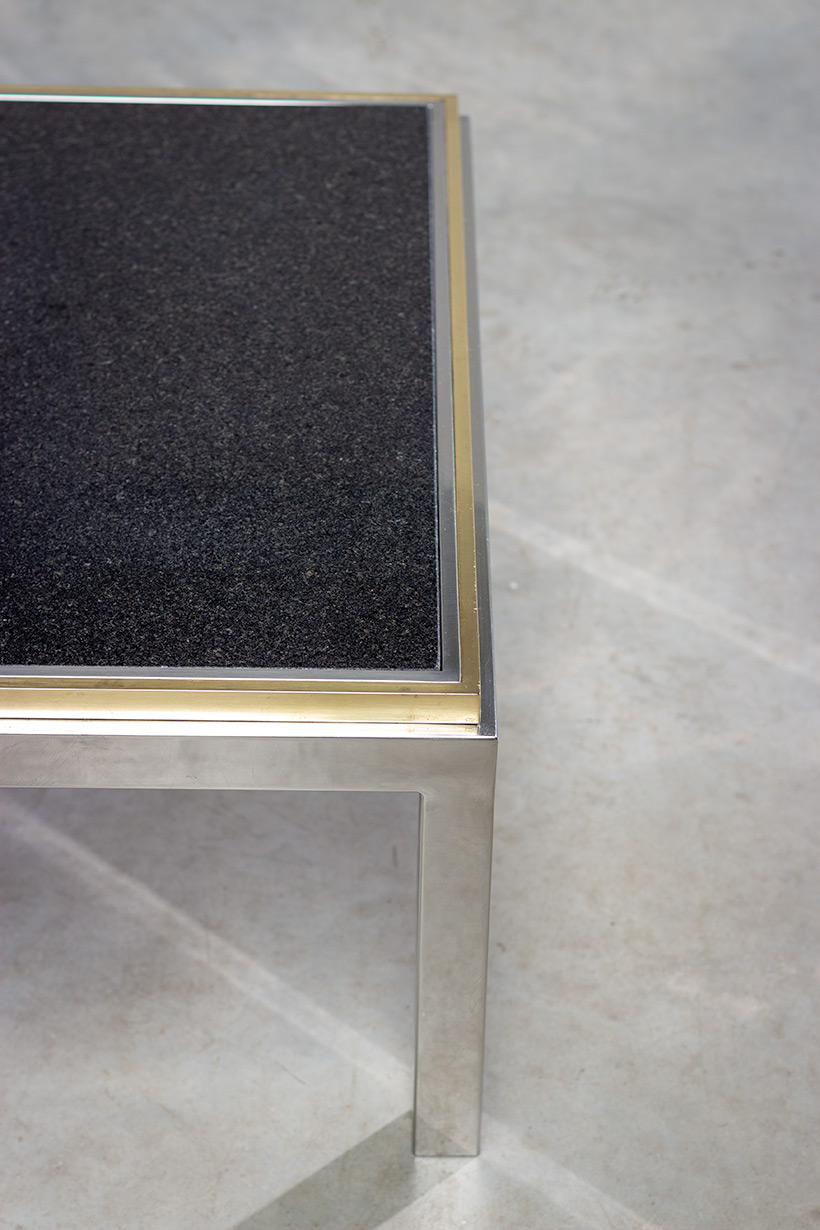 Flaminia coffee table with marble top designed by Willy Rizzo img 4