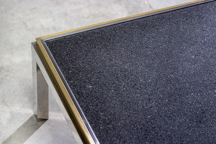 Flaminia coffee table with marble top designed by Willy Rizzo img 5