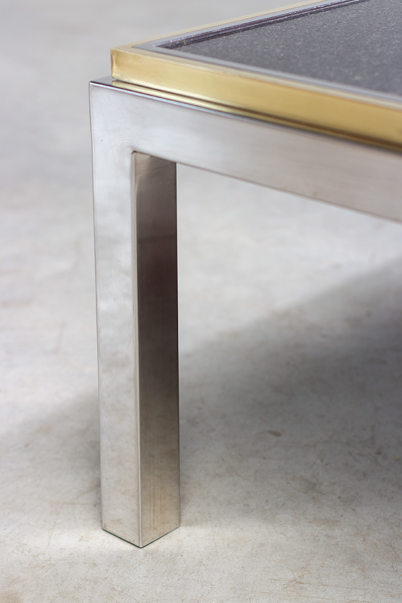 Flaminia coffee table with marble top designed by Willy Rizzo img 7